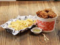 Chicken XL - Porción extra grande + papas fritas