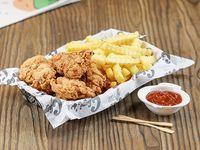 Chicken M - Porción mediana + papas fritas