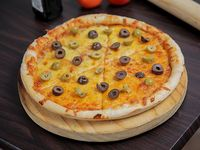 Pizzeta con aceituna verdes