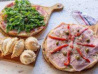 Promo 2 - 2 pizzas a elección + 6 empandas a elección