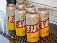 6 latas de cerveza Brahma 473 ml