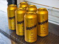 6 latas de cerveza Imperial 473 ml