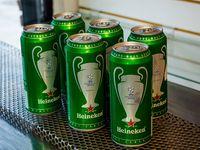 6 latas de cerveza Heineken 473 ml