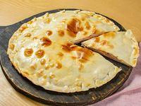 Media tarta de jamón, queso y huevo