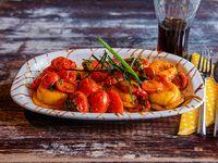 Sorrentinos de jamón y Muzzarella con salsa