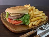 Promo - Hamburguesa + papas fritas