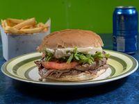 Sándwich chacarero + bebida + papas fritas pequeñas