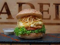 Sandwich de hamburguesa hawaiana