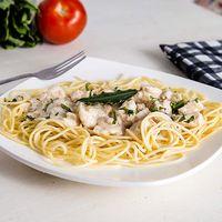 Pasta Pollo con Champinones