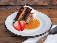 Torta de brownie (porción)