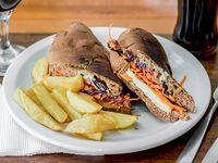 Sándwich vegetariano panini