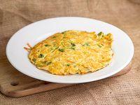 Omelette con arroz integral salteado