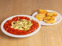 Ravioli con salsa a elección