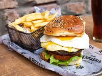 Egg Grilled burger