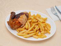 Pollo asado con acompañamiento