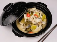 Boiled fish with sour
