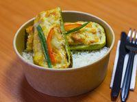 Zapallo italiano relleno con arroz
