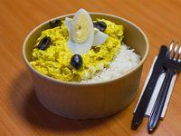 Ají de gallina con arroz