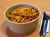 Spaghetti a la boloñesa (doble porción)