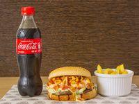 Hamburguesa Sencilla + Acompañante + Bebida personal