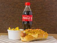 Perro Suiza + Papa Francesa + Coca-Cola Sabor Original 400 ml