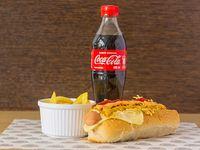 Perro Americano + Papa Francesa + Coca Cola 400 ml