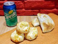 Promo - 2 empanadas + 3 chipas + 1 gaseosa en lata