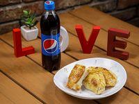 Promoción - 2 Empanadas + Empanada dulce + Refresco línea Pepsi 500 ml