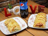 Promoción - 12 empanadas a elección + refresco línea Pepsi 1.5 L