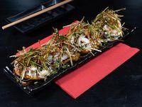 Tostones con ceviche de mariscos