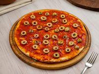Pizza con aceitunas