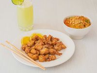 Combo Tallarines Japoneses + Pollo a la Naranja
