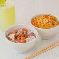 Combo Tallarines Japoneses + Ceviche Pescado