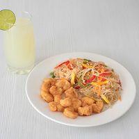 Combo Tallarines Japoneses + Camarones Apanados