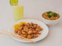Combo Arroz + Pollo a la Naranja