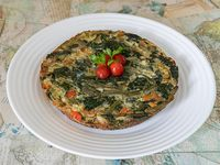 Tortilla individual de verduras