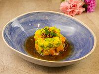Avocado and salmon tartare