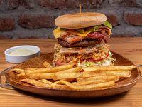 Hamburguesa de chuleta y carne