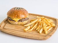 Cheese burger sencilla