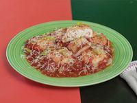 Sorrentinos con salsa
