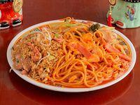 Arroz + Chop Suey + Spaguetti