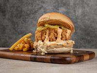 Crispy chicken burger