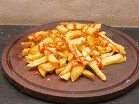 Papas fritas con ketchup