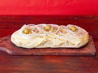 Pizzeta fugazza con queso