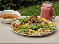 Ensalada Vegetariana + Sopa + Jugo