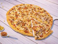 Pizza Familiar Pollo con Champiñones