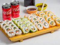 Promo mixta 40 piezas + 2 Coca-Cola 220 ml