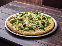 20 - Pizza con rúcula y parmesano