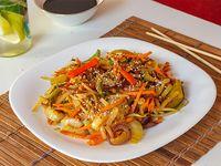 Wok oriental vegetariano