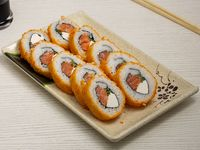 Sake tempura roll (10 piezas)